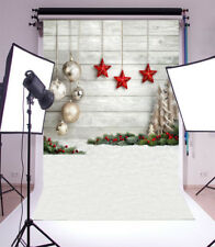 4x5FT Christmas Board Snowflakes Backdrop Photography Background