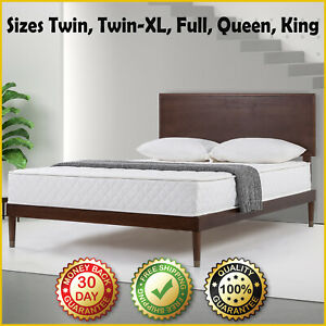 "8"" SPRING MATTRESS Luxury Bedroom Coil Spring Back Pain Relief Extra Firm Bed"