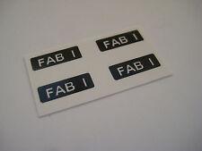 Dinky 100 - Thunderbird Fab 1 Stickers - B2G1F
