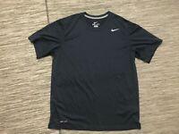Nike Legend Dri Fit Men's Large Training Tee Shirt Blue Polyester 371642-475