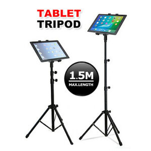 """Adjustable Floor Bed Tripod Stand Carrying Music Bracket for iPad 7-12"""" Tablets"""