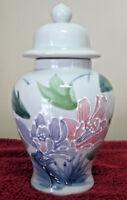 """Vintage 8"""" Otagiri Hand Painted Porcelain Ginger Jar Made in Japan Floral Design"""