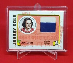 2009-10 ITG 1972 The Year in Hockey STEVE SHUTT 2 Color Jersey Best of 1/1 HABS