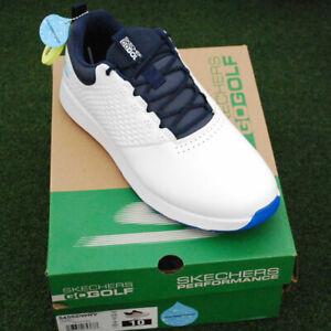 Skechers GoGolf Elite V.4 Golf Shoes - 54552-WNV White/ Navy - NEW