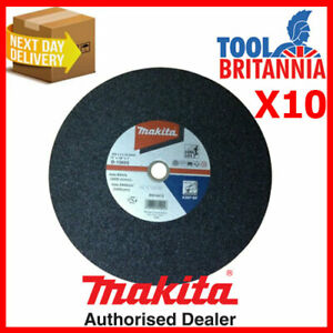 """Makita Metal Chop Saw Cutting Disc 355mm 14"""" Pack of 10 ( = Only £4.99 Each )"""
