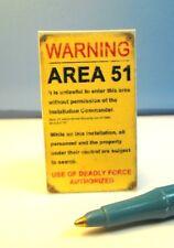 Dollhouse Miniature Area 51 Sign :  S159