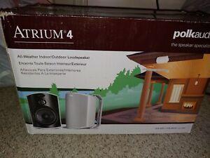 Polk Audio Atrium 4 Outdoor Speakers! NEW
