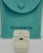 Authentic Tiffany & Co Peretti Pink Sapphire Stacking Band Ring RRP$580