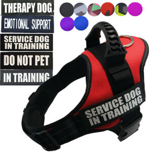 Dog Harness Service Dog in Training Pet Vest Outdoor Collar Emotional ESA S -XXL