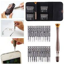 25 Stk Mini Schraubendreher Bit Set Präzisions Werkzeug für Brillen Handys Uhr