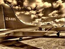 B 17 OLD VINTAGE AEROPLANE WAR SEPIA PHOTO ART PRINT POSTER PICTURE BMP2387B