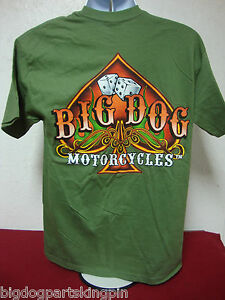 BIG DOG MOTORCYCLES BIG SPADE DICE 3 XLARGE SHIRT GREEN SHORT SLEEVE K-9 MASTIFF
