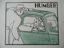 Advertising Illustration for Humber cars.H/Col Lithograph attr Vic Hammond c1935