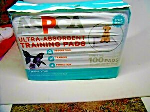 """New 1 Pack of 100 ASPCA Ultra-Absorbent Training Dog Pads 22"""" x 22"""" Fresh Scent"""