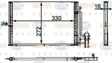 8FC 351 300-694 Hella Kondensator Klimaanlage Links oder Rechts