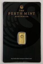 Lingotto Gold Oro Puro 1 Gr Grammo Grammi Blister Perth Mint Certificato (24 KT)