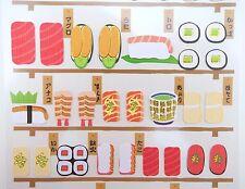 Japanese sushi stickers! Sashimi & Nigiri, bento box, matcha tea, sushi bar food