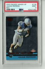 2002 Pacific Heads Up Red #136 JULIUS PEPPERS Rookie #d/65  PSA 9 Mint!
