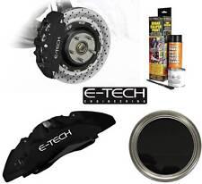 E-Tech Branded Engine Bay & Wheel Hub Brake Caliper Paint Full Kit - Matt Black