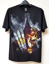Marvel Men T-Shirt Vtg Retro Sz M Black Marvel Villain Mad Engine Short Sleeve