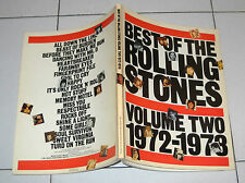Spartiti Best of THE ROLLING STONES Volume Two 1972-1978 OTTIMO Songbook spartit