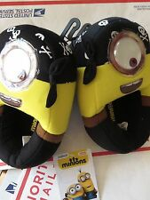 Despicable Me Minion Pirate Slippers Youth M 13-1 Medium