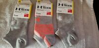 Womens Under Armor Heatgear Socks 3 Pairs New With Tags Size 7-10 Free Shipping