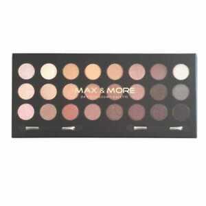 Max & More Nude 24 Eyeshadow Palette - New Eye Shadow Set Pink Beige Brown Black