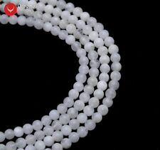 4mm Round Natural White Moonstone Loose Beads for Jewelry Making DIY 15'' los789
