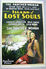 80s Vintage Island of Lost Souls ☆ Kathleen Burke ☆ Dr. Moreau Lobby Card Poster