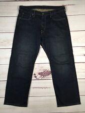 Men's LEVI'S 569 34x29 Denim Blue Jeans Loose Fit Straight Leg