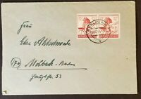 1944 Berlin Germany 906 Gedenke November 9 1923 Stamps WWII Commercial  Cover