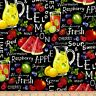 Food Fabric - Farmer John's Garden Party Lemonade - Paintbrush Studio YARD