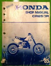 85 Honda CR250R CR 250 Genuine Service Manual Oem
