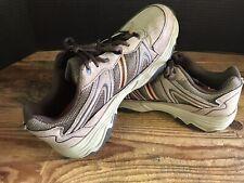 Mens Merrell Walnut Brown Tan Hiking Shoes Size 9.5 EE Milestone II Dr. Scholls