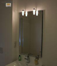 ALTA LED BADSPIEGEL LEUCHTSPIEGEL MIT STEILFACETTE 60x80CM MIT 2 LAMPEN