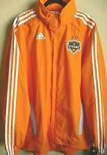 MLS Adidas Houston Dynamo Soccer Hooded Rain Jacket M NWT
