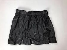 HOBBS Leather Skirt - UK14 - Black - Great Condition - Women's