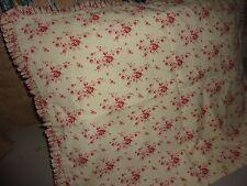 ROSE TREE RED & CREAM TOILE (1) RUFFLED STANDARD PILLOW SHAM 19 X 25