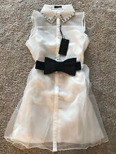 White Short Dress Size L