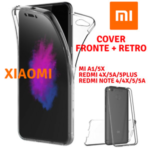 COVER CUSTODIA TPU FRONTE RETRO XIAOMI Mi5/X/A1/REDMI/4A/X/NOTE4/5A