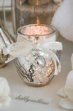 Clayre & Eef Windlicht Teelicht Sterne Brocante Gold Shabby Chic