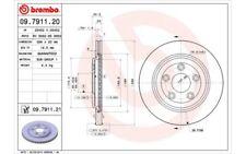 1x BREMBO Disco de Freno Trasero Ventilado 288mm Para JAGUAR S-TYPE 09.7911.21