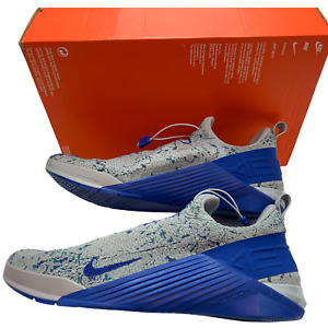 Nike Men's React Metcon Athletic Shoes Wolf Gray Neptune Green Blue Size 14 New