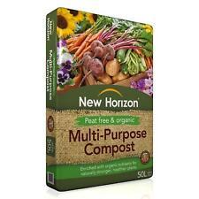 New Horizon Peat Free & Organic Multi Purpose Compost 50L Organic Nutrients Soil