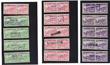 Bangladesh Stamp Pakistan Hand Overprint 15 pairs with various - All MNH