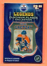 Wayne Gretzky 2007 Edmonton Journal Oilers Legends Platinum Plaque #99 Sealed