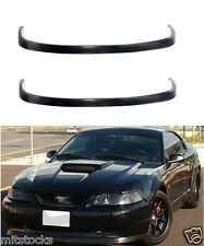 2 X 99-04 FORD MUSTANG OE STYLE PU BLACK URETHANE FRONT CHIN BUMPER LIP SPOILER