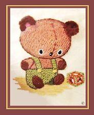 New listing *Vintage Crewel* 1978 Small Sunset Jiffy * Cuddly Cub * *Rare* Kit