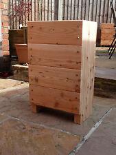 Planter woodenlarch trough - bay tree planter ready assembled by Gardenlarch Ltd